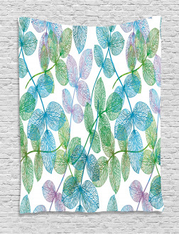 Flowers Leaves Ivy Ombre Tapestry