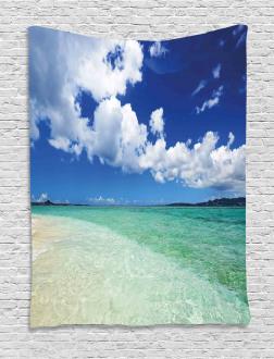 Island Sealife Wavy Sunny Tapestry
