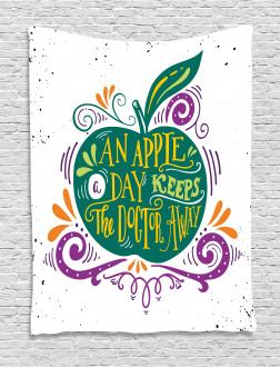 Eat Healthy Quote Tapestry