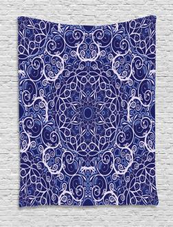 Bohemian Floral Circle Tapestry