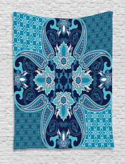 Floral Paisley Bohemic Tapestry