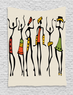 African Clan Dancer Ethnic Tapestry