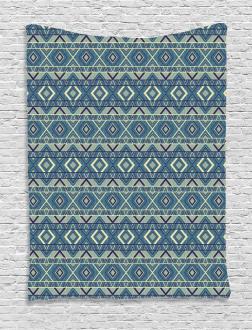 Ethnic Chevron Effects Tapestry