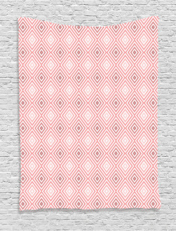 Rhombus Stripes Line Tapestry