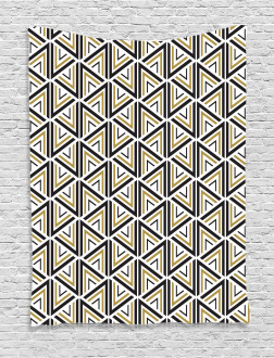 Triangle Shaped Lines Tapestry