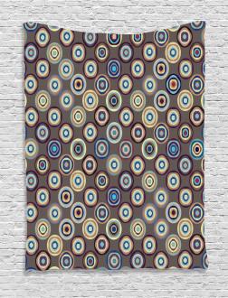 Abstract Big Dots Tapestry