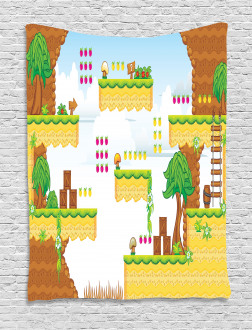 Cartoon Retro Kids Tapestry