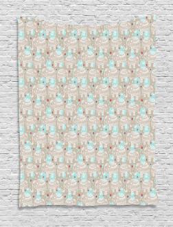 Boho Mandala Pattern Tapestry