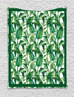 Large Tropical Leaves Tapestry