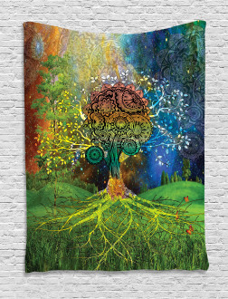 Mother Earth Zen Theme Tapestry