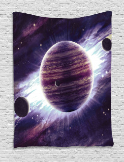 Outer Space Planets Mars Tapestry