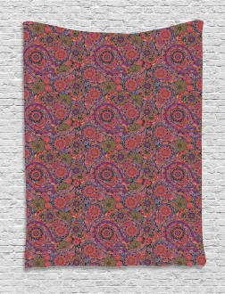 Asian Leaves Eastern Tapestry