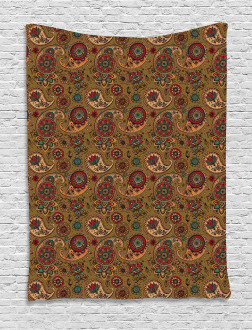 Vintage Authentic Motif Tapestry