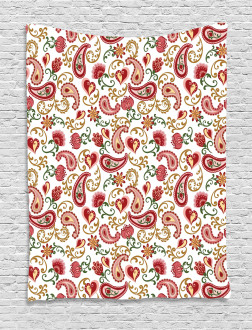 Style Rose Motif Tapestry