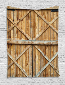 Wooden Timber Door Plank Tapestry