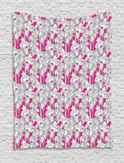 Retro Flower Leaf Petals Tapestry