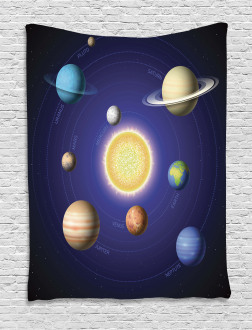Solar System with Planets Tapestry