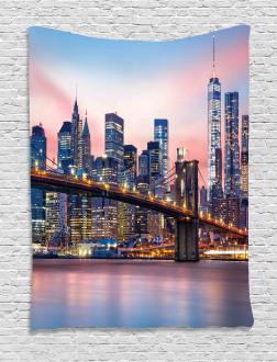 Sunrise in Brooklyn Bridge Tapestry