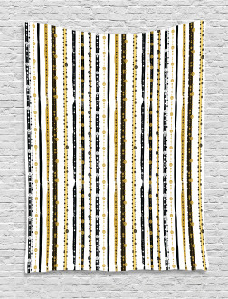 Vertical Lines Rounds Tapestry