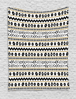 Abstract Primitive Figures Tapestry