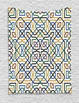 Arabic Marrakesh Motif Tapestry