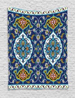 Oriental Tile Effects Tapestry