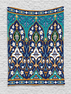 Abstract Navy Design Tapestry