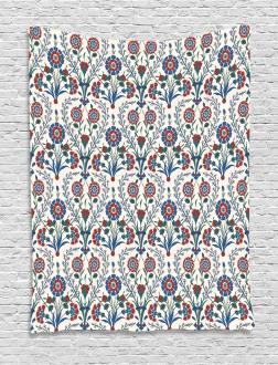 Old Floral Leaf Ornament Tapestry