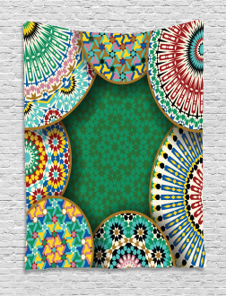 Oriental Hippie Motif Tapestry