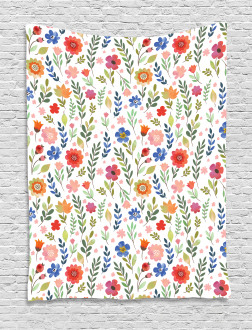 Soft Colored Floret Tapestry