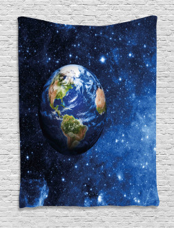 Planet Earth Solar System Tapestry