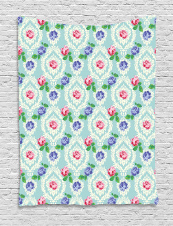 Baroque Colored Roses Tapestry