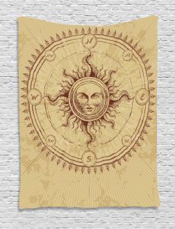 Antique Roman Sun Stone Tapestry