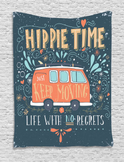 Hippie Inspiring Quote Tapestry