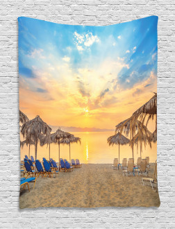Sandy Beach with Sunrise Tapestry