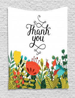 Hand Writing Thank You Tapestry