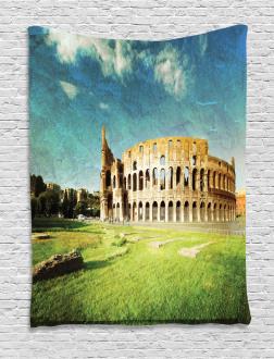 Italian Sunset Rome Tapestry