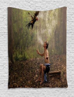 Asian Forest Birds Eco Tapestry