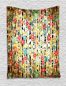 Ivy Leaves and Scenery Tapestry