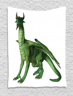 Ugly Cute Standing Dragon Tapestry
