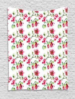 Shabby Chic Roses Tulips Tapestry