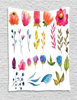 Watercolor Garden Design Tapestry