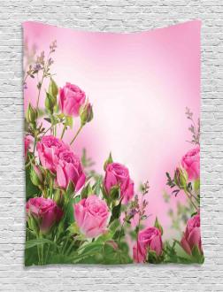 Spring Season Roses Buds Tapestry
