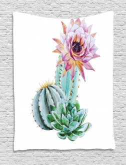 Cactus Flower and Spike Tapestry