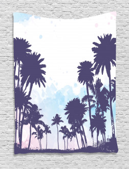 Palm Trees South Forest Tapestry