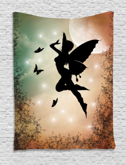 Fairy and Butterfly Wing Tapestry