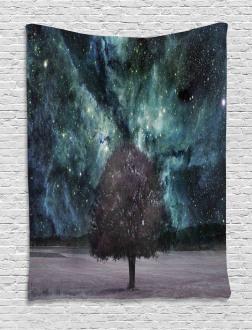 Nebula Galaxy Planet Tree Tapestry