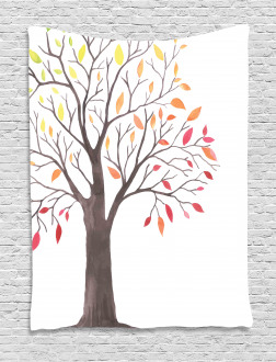 Forest Trees with Leaves Tapestry