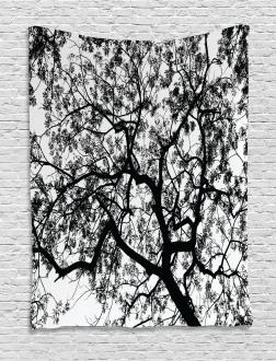 Spooky Black Tree Branch Tapestry