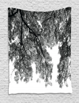 Tree Branches and Leaves Tapestry